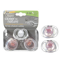 Closer To Nature Twin Pack Pure Soother - 3 sizes