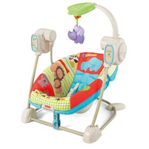 Fisher Price Luv U Zoo Space Saver Swing