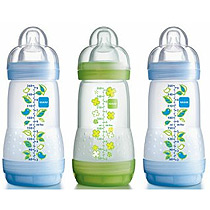 MAM Anti-Colic Bottle 260ml 3pk - 3 Cols