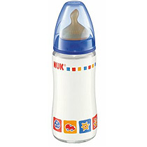 NUK Glass Bottle 240ml BPA Free - Latex Teat