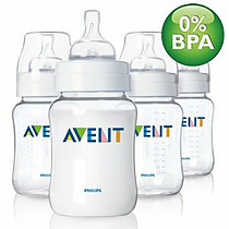 Philips Avent BPA Free 9oz PES Quad Pack Bottles