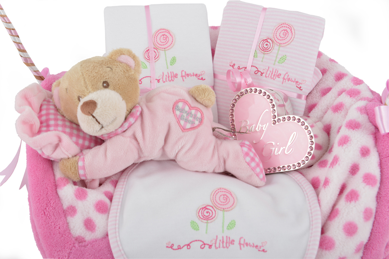 Baby Gifts For Newborn Girl : Precious baby girl gift basket at ?