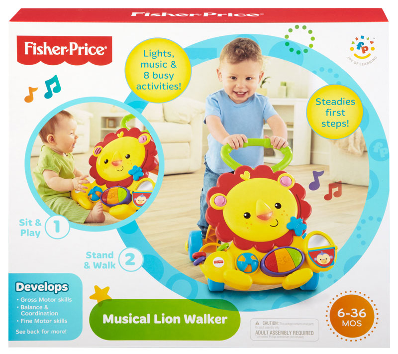 low price on fisher price signature style lion walker babycity. Black Bedroom Furniture Sets. Home Design Ideas