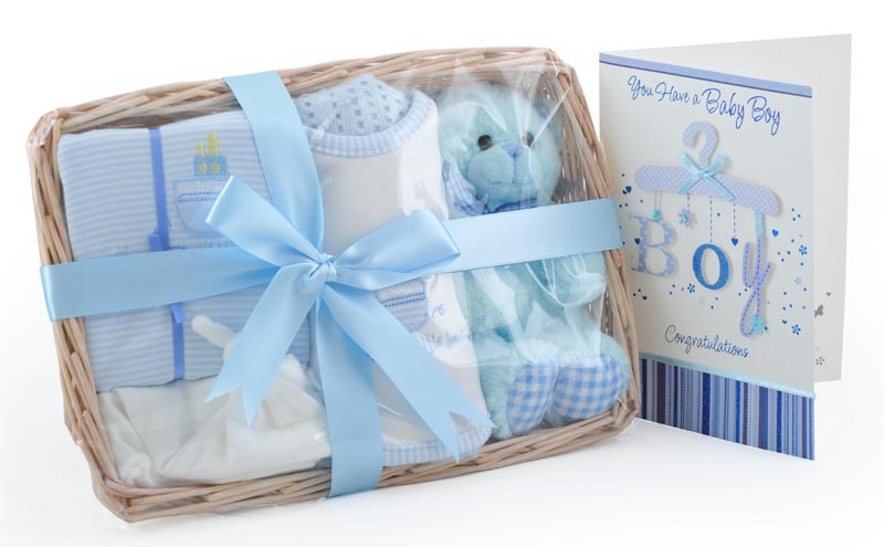 Baby Gift Basket Co : Bear and bundle baby boy gift basket at ? babycity