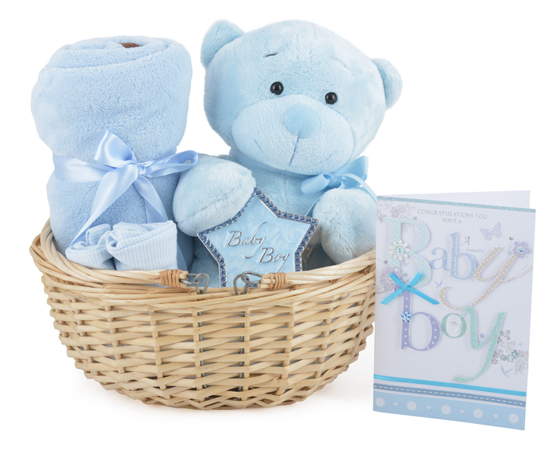 Baby Gift Basket Co : Gorgeous baby boy gift basket