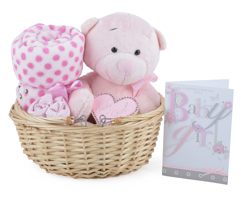 Baby Gift Basket Co : Gorgeous baby girl gift basket