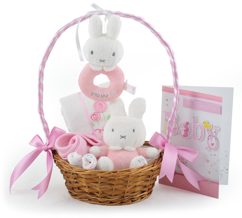 Baby Gift Baskets For Girl : My miffy little star baby girl gift basket at ?