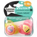 Closer To Nature Anytime Soother Twin Pack 6-18m Girl