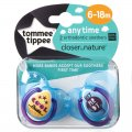 Closer to Nature Anytime Soother Twin Pack 6-18m Boy