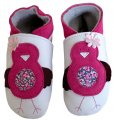 Daisy Roots Fusia Birdy on White Baby Shoes