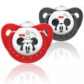 Mickey & Minnie Twin Pack Soothers - 6-18 mths