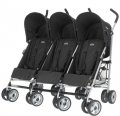 Obaby Triple Pushchair Stroller-Black