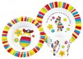 Stripy Horse Melamine 3 pc Set