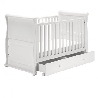 East Coast Alaska White Sleigh Cot Bed