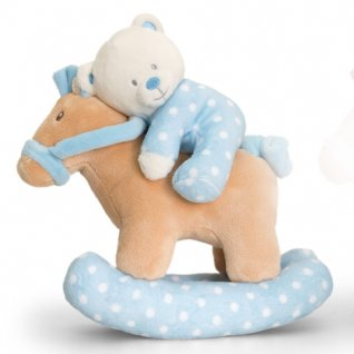 Keel Toys Baby Bear on Musical Rocking Horse 2 Asst 22cm