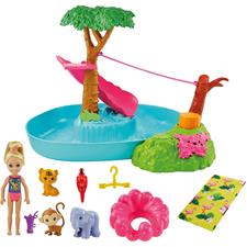 Barbie Birthday Surprise Chelsea Jungle River Play Set