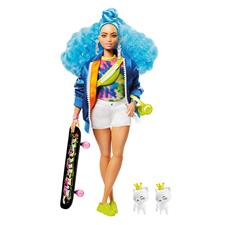 Barbie Fashionista EXTRA Doll - Blue Afro Hair