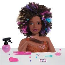 Barbie Sparkle Deluxe Afro Hair Styling Head