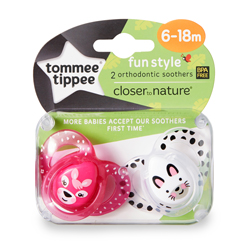 Closer to Nature Fun Style Soother Twin Pack 6-18m