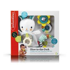 Infantino Glow in the Dark Cuddle Pal with Teethers Gft Set