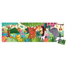 Janod Hat Boxed Panoramic Puzzle Jungle 36pcs