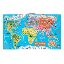 Janod Magnetic World Map Puzzle
