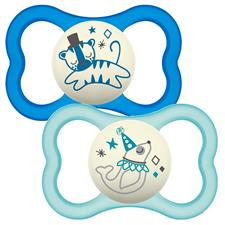 MAM Air Night Latex Soother Blue 12m+ 2Pk