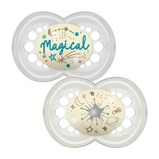 MAM Night Latex Soother 12m+ 2Pk
