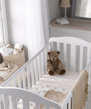 Mothercare Fleece Crib Blanket Cream