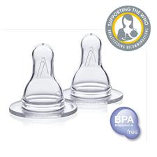 Medela Medium Flow Silicone Teats 2Pk