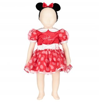 Minnie Mouse Red Dress with Headband