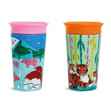 Munchkin Miracle 360° Sippy Cup WildLove Rhino & Tiger 266ml 2Pk