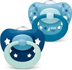 NUK Signature Soother Blue 6-18m 2Pk