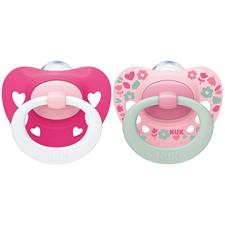 NUK Signature Soother Pink 6-18m 2Pk