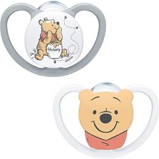 NUK Space Soother Disney Winnie The Pooh 0-6m 2Pk