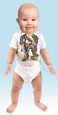 Just Add a Kid 'Pirate Parrot Boy' Bodysuit