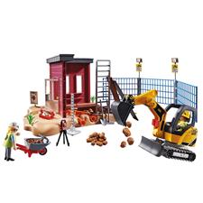 Playmobil City Action Construcion Small Excavator with Movable Bucket