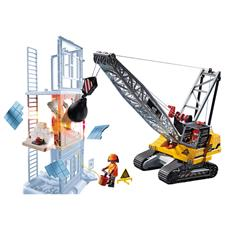 Playmobil City Action Construction Demolition Crane with Working Winch