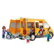 Playmobil City Life School Van with Folding Ramp