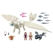 Playmobil DreamWorks Dragons Light Fury with Baby Dragon and Children