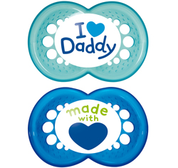 MAM Style (I Love) Soother 0+ and 6m+ Twin Pack