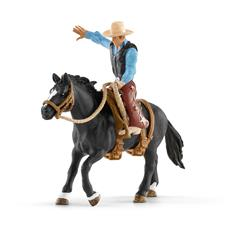 Schleich Saddle Bronc Riding With Cowboy