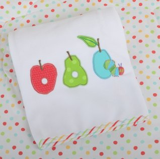 Very Hungry Caterpillar Fruits Applique Pram Blanket