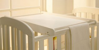 East Coast Cot Top Changer White
