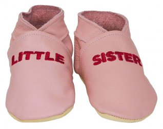 Daisy Roots Embroidered Little Sister Baby Shoes