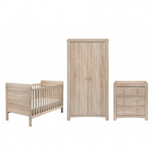 Fontana Room Set - Cot Bed, Dresser & Wardrobe