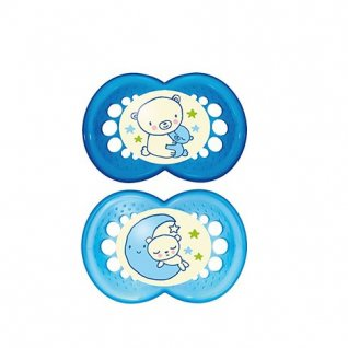MAM Night Soother 6m+ Twin Pack