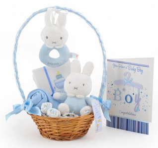 Peter Rabbit Baby Boy Gift Basket
