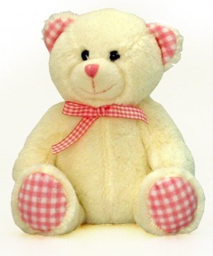 Keel Toys Nursery Gingham Teddy Bear - 4 Colours