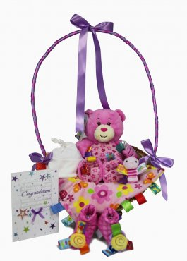 New Baby Girl Taggies Delights Gift Hamper